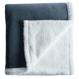 "Herringbone Sherpa Throw 60""x70"""